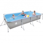 Бассейн каркасный Avenli 17723 Jilong Rectangular Steel Frame Pool  JL017723NG (394х207x80см)